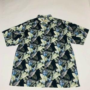 Tommy Bahama Mens Camp Shirt Byrom Blooms Silk New